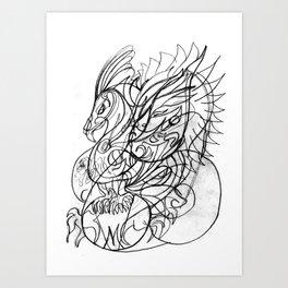 Bird with wings Art Print
