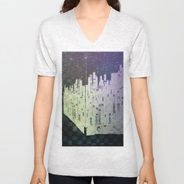 On The Spatial Grid Unisex V-Neck