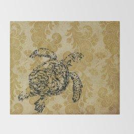 Yellow Turtle Throw Blanket