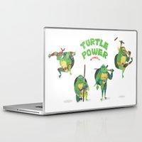 ninja turtle Laptop & iPad Skins featuring Ninja Turtles Turtle Power by MrMaars