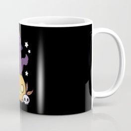 Pumpkin Cat // Black Coffee Mug