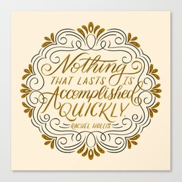 Rachel Hollis Perseverance Quote Canvas Print