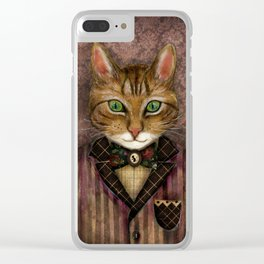 Sir Harold And His Mouse Betty Clear iPhone Case