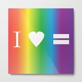 I heart Equality Metal Print