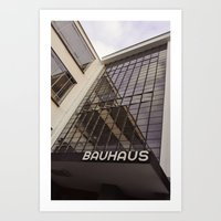 bauhaus Art Prints featuring Bauhaus by Nat Alonso
