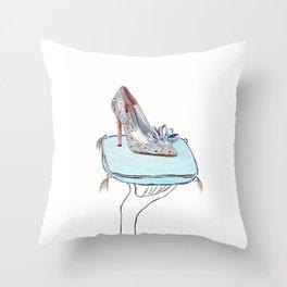 Cinderella slipper Throw Pillow