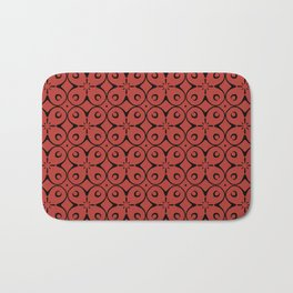 My Lucky Day Aurora Red Bath Mat