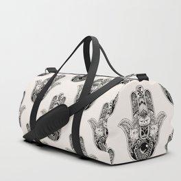 Hamsa Hand Persian Cat Duffle Bag