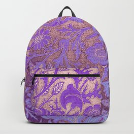 Wiiliam Morris revamped, art nouveau pattern Backpack