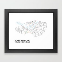 Alpine Meadows, CA - Minimalist Trail Art Framed Art Print