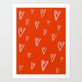 Heart Doodles 2 Art Print