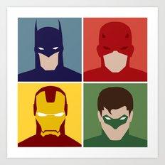 Minimalist Heroes Art Print