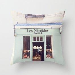 Paris, Les Nereides Throw Pillow
