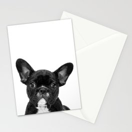 Black and White French Bulldog Stationery Cards