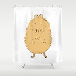 Thinking Capybara Shower Curtain