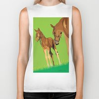 horses Biker Tanks featuring Horses by Anderssen Creative Imaging