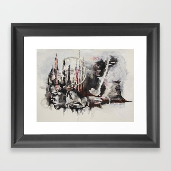 freefalling Framed Art Print