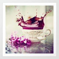 BLACK TEA Art Print