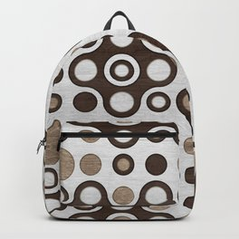 Geometric Pattern -  Wood and Golden Texture Backpack