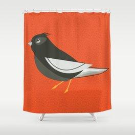 Retro Birdy Shower Curtain