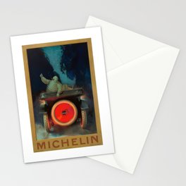 1921 Michelin Tires French Advertising Poster Stationery Cards