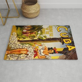 Cuba Holiday Isle of the Tropics Rug