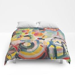 "Robert Delaunay ""Homage to Blériot"" (study) Comforters"