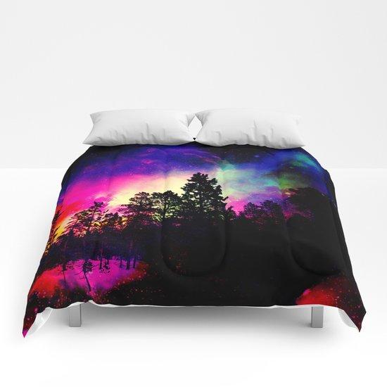 Nebula forest Comforters