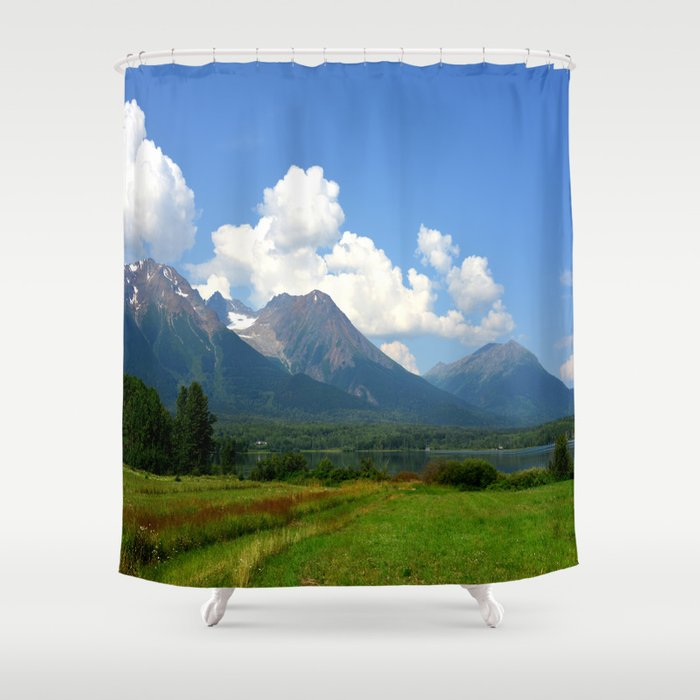 Kathlyn Lake and Hudson Bay Mountain Shower Curtain
