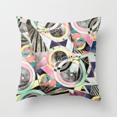 Modern geometric abstract pattern Throw Pillow