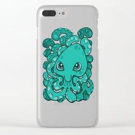 Happy Octopus Squid Kraken Cthulhu Sea Creature - Arcadia Clear iPhone Case