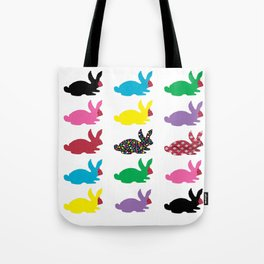 Rabbits Dressed For An Outing Tote Bag