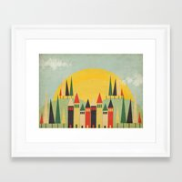 rushmore Framed Art Prints featuring Rushmore by Kayla Cole