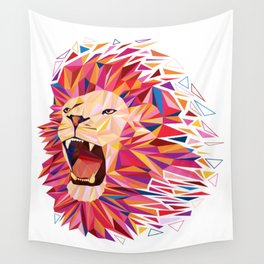 roaring lion Wall Tapestry