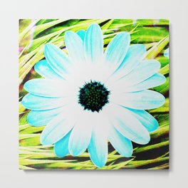 Making art with flower - green tones Metal Print