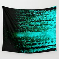 teal Wall Tapestries featuring Teal  by 2sweet4words Designs