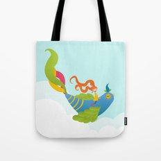 Bird and Girl Tote Bag