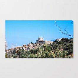 Sermoneta, a walled town Canvas Print