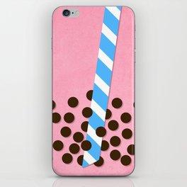 Strawberry Smoothie w/ Boba iPhone Skin