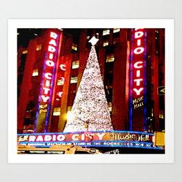 Radio City Music Hall Tree 2 Art Print