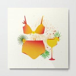 The Bikini Series: Tequila Sunrise Metal Print