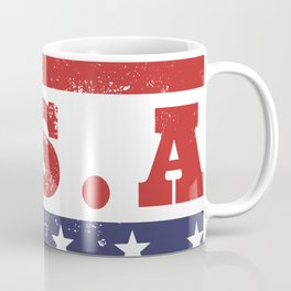 USA Patriotic Rubber Stamp Icon Coffee Mug