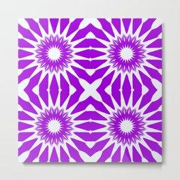 purple & white pinwheel flowers Metal Print