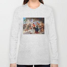 Battle of the Alamo by Percy Moran (1912) Long Sleeve T-shirt