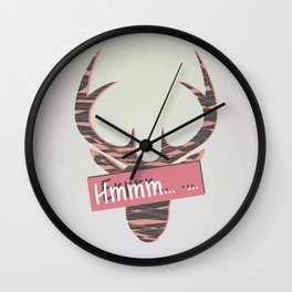 When you are speechless Wall Clock