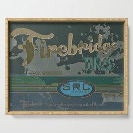 SRC Preparations Firebridge Tires Vintage Poster No1 Serving Tray