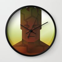 guardians of the galaxy Wall Clocks featuring Guardians of the Galaxy - Groot by Casa del Kables