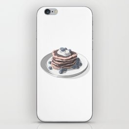 Pancakes with blueberries iPhone Skin