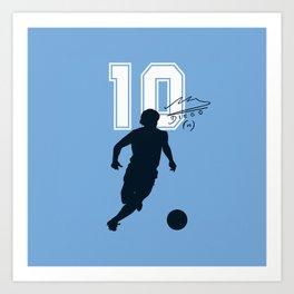 Argentina Número Diez Art Print