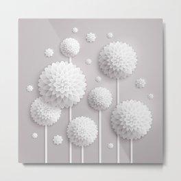 Floral Dimensions Metal Print